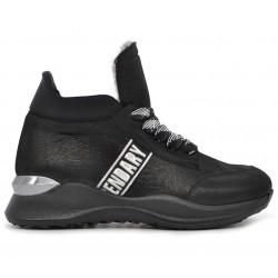 Кожаные зимние кроссовки
