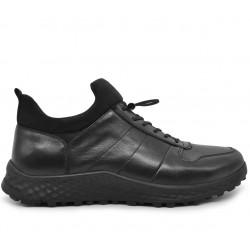 Кожаные демисезонные кроссовки