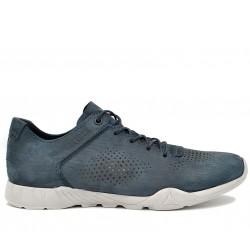 Синие нубуковые летние кроссовки