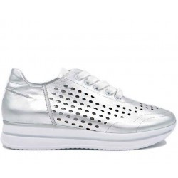 Шкіряні літні кросівки