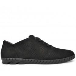 Нубуковые летние туфли