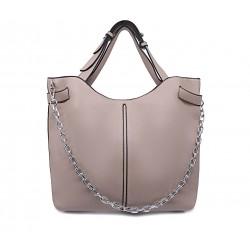 Шкіряна «еко» велика жіноча сумка