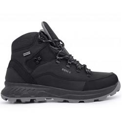 Черные  зимние ботинки