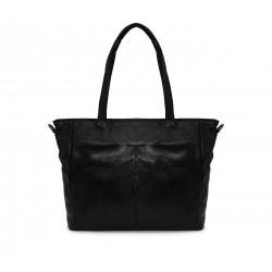 Кожаная большая женская сумка
