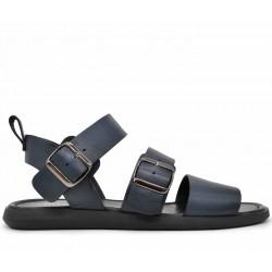 Синие кожаные сандалии