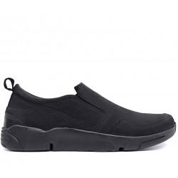 Чорні нубукові демісезонні туфлі
