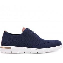 Сині текстильні літні туфлі