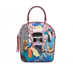 Разноцветная кожаная маленькая женская сумка