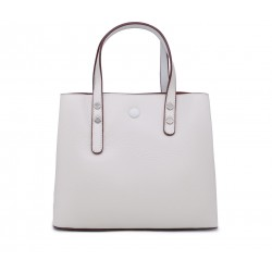 Белая кожаная маленькая женская сумка