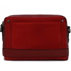 Бордовая  маленькая женская сумка
