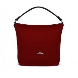 Бордовая  большая женская сумка