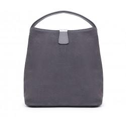 Серая  средняя женская сумка
