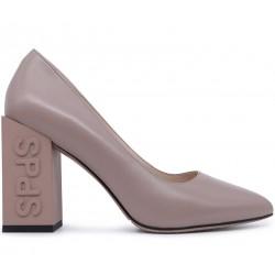 Бежевые кожаные демисезонные туфли