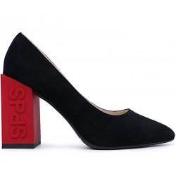 Черные замшевые демисезонные туфли