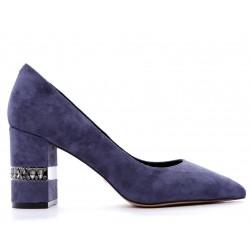 Синие замшевые демисезонные туфли