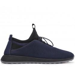 Синие нубуковые демисезонные кроссовки