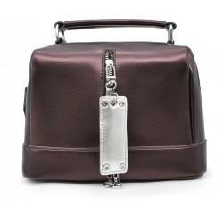 Бордовая кожаная женская сумка