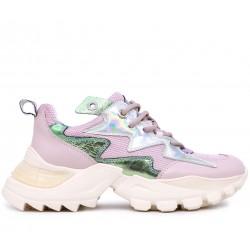 Розовые  демисезонные кроссовки