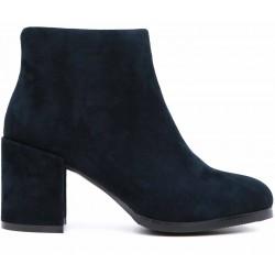 Синие замшевые демисезонные ботинки