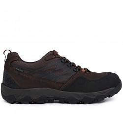Коричневые  демисезонные кроссовки