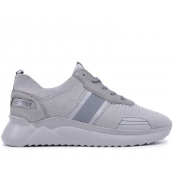 Сірі нубукові літні кросівки