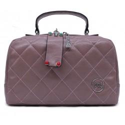 Шкіряна «еко» середня жіноча сумка