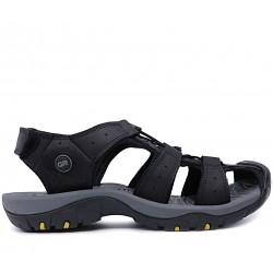 Чорні нубукові сандалі