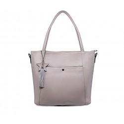 Шкіряна велика жіноча сумка