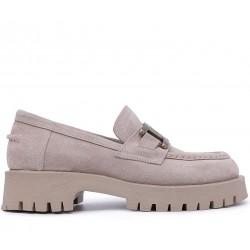 Замшеві демісезонні туфлі