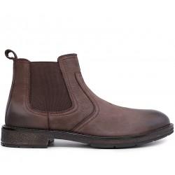 Коричневые нубуковые демисезонные ботинки