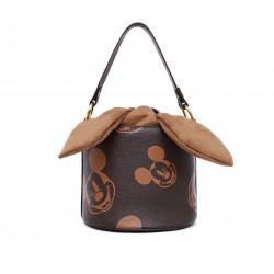 Коричневая кожаная маленькая женская сумка