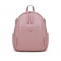 Розовый кожаный рюкзак