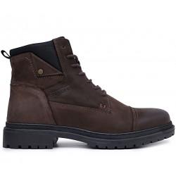 Коричневые нубуковые зимние ботинки