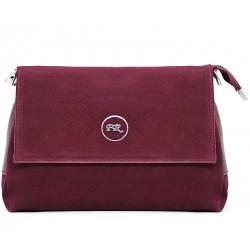 Замшевая маленькая женская сумка