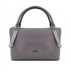 Серая  большая женская сумка