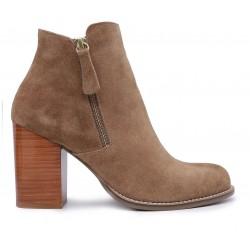 Бежевые  демисезонные ботинки