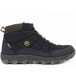 Черные текстильные демисезонные ботинки