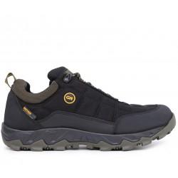 Черные текстильные демисезонные кроссовки