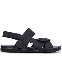 Синие нубуковые сандалии