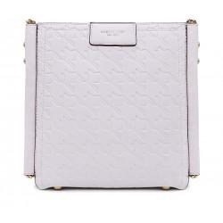 Біла шкіряна «еко» маленька жіноча сумка