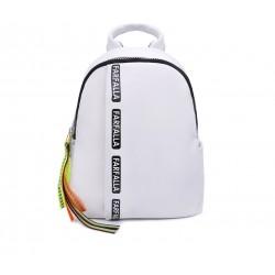 Білий шкіряний «еко» рюкзак