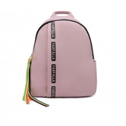 Рожевий шкіряний «еко» рюкзак