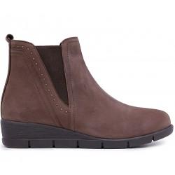 Нубуковые демисезонные ботинки