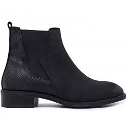 Черные нубуковые ботинки