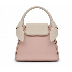 Разноцветная кожаная женская сумка