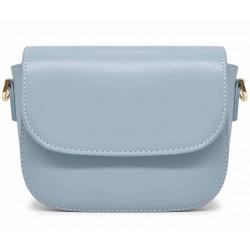 Голубая кожаная женская сумка
