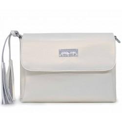 Белая кожаная женская сумка