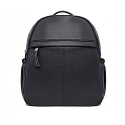 Черный кожаный рюкзак