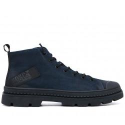 Синие нубуковые зимние ботинки
