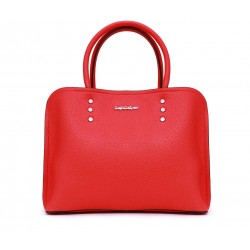 Красная кожаная средняя женская сумка